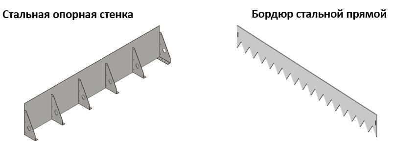 Разновидность производимых декоративных бордюров от Стандартпарк