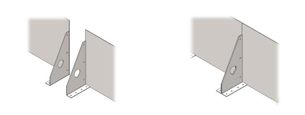 Болтовое крепление металлических бордюров